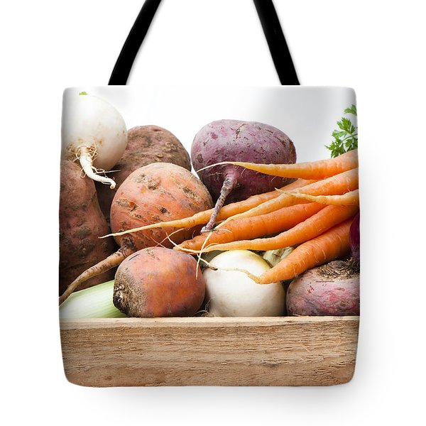Veg Box Tote Bag by Anne Gilbert
