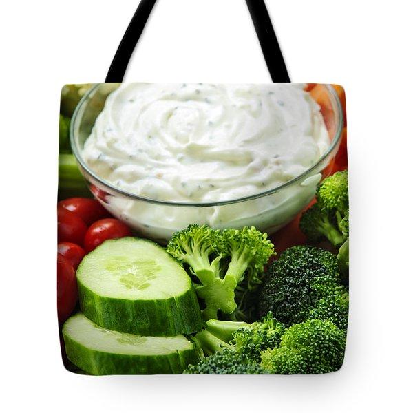 Vegetables And Dip Tote Bag by Elena Elisseeva