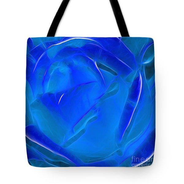 Veil of Blue Tote Bag by Kaye Menner