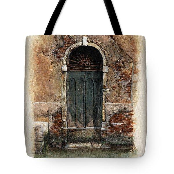 Venetian Door 01 Elena Yakubovich Tote Bag by Elena Yakubovich