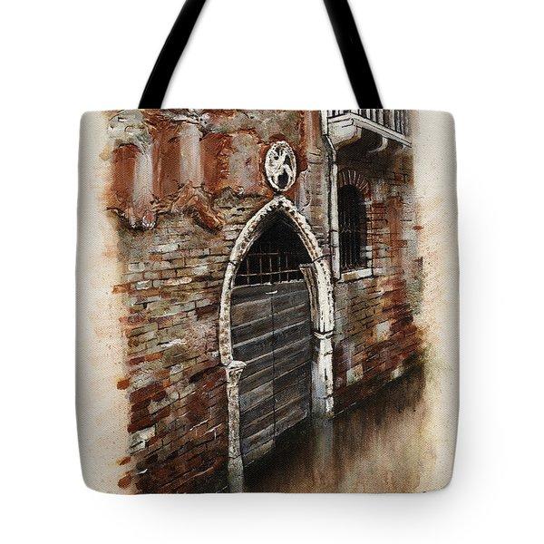 Venetian Door 03 Elena Yakubovich Tote Bag by Elena Yakubovich