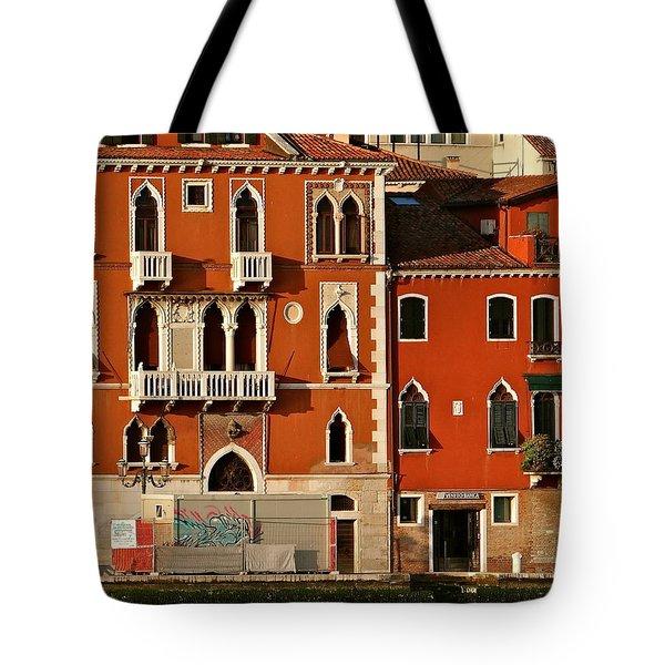 Venetian Red Tote Bag by Ira Shander