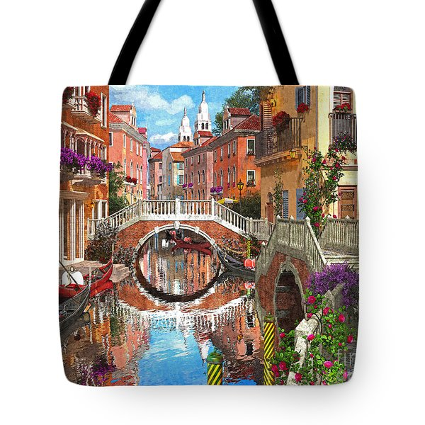 Venetian Waterway Tote Bag by Dominic Davison