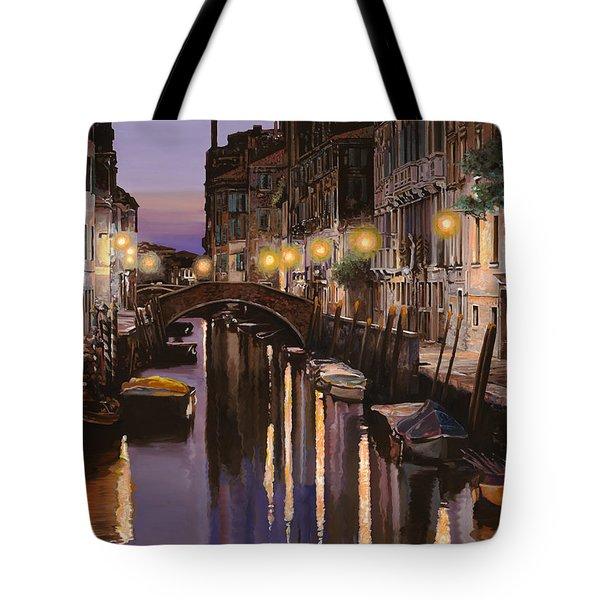 Venezia al crepuscolo Tote Bag by Guido Borelli