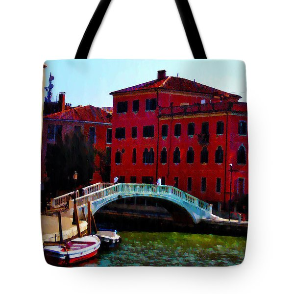 Venice Bow Bridge Tote Bag by Bill and Pat Cannon