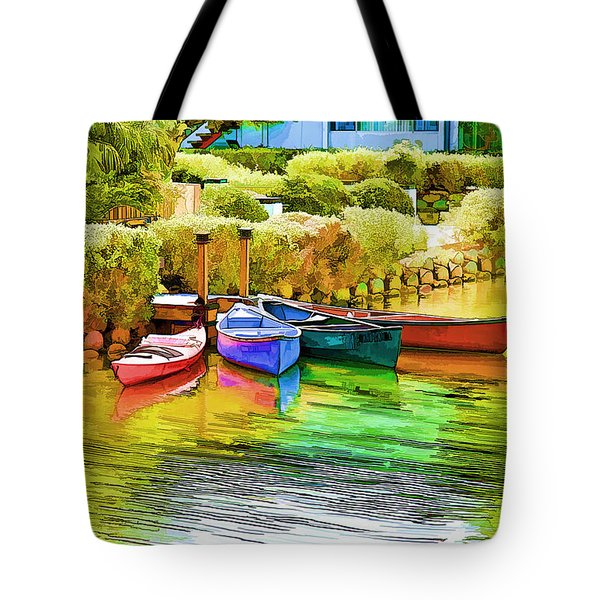 Venice Canoes Tote Bag by Chuck Staley