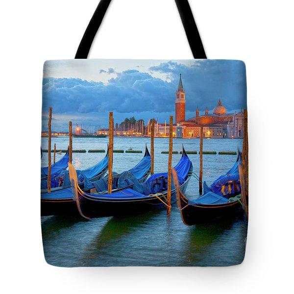 Venice View To San Giorgio Maggiore Tote Bag by Heiko Koehrer-Wagner