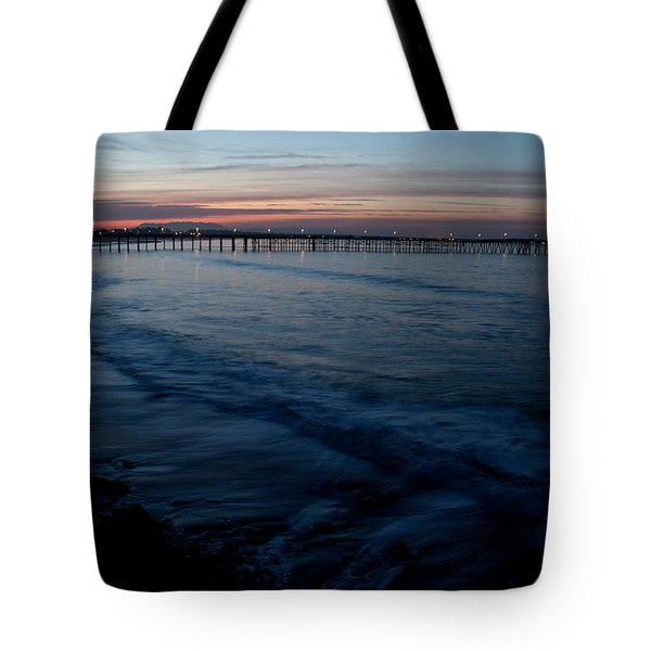 Ventura Pier Sunrise Tote Bag by John Daly