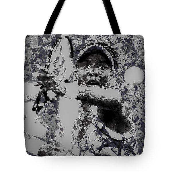 Venus Williams Paint Splatter 2e Tote Bag by Brian Reaves