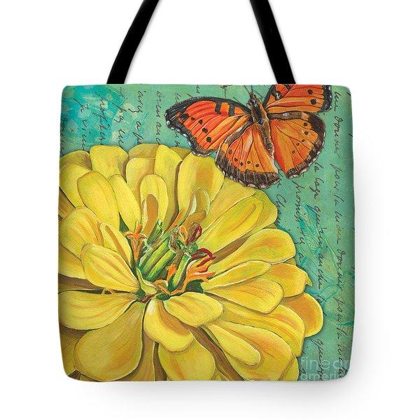 Verdigris Floral 2 Tote Bag by Debbie DeWitt