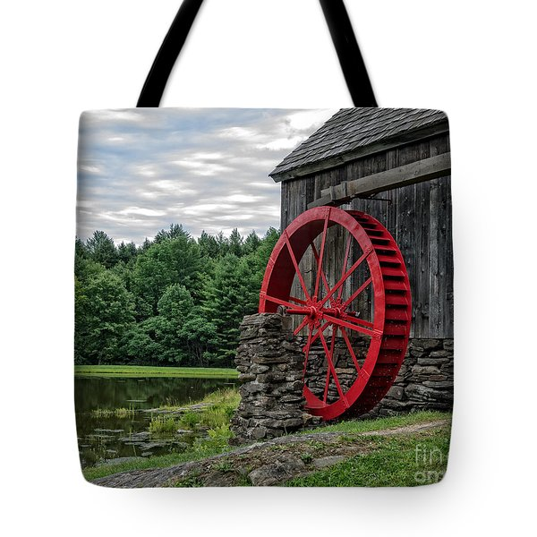 Vermont Grist Mill Tote Bag by Edward Fielding
