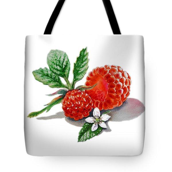 Artz Vitamins A Very Happy Raspberry Tote Bag by Irina Sztukowski