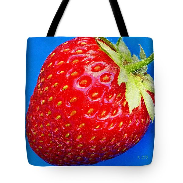 Very Strawberry  Tote Bag by Chris Berry
