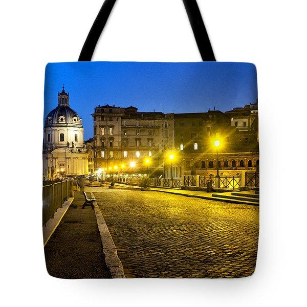 Via Alessandrina Tote Bag by Fabrizio Troiani