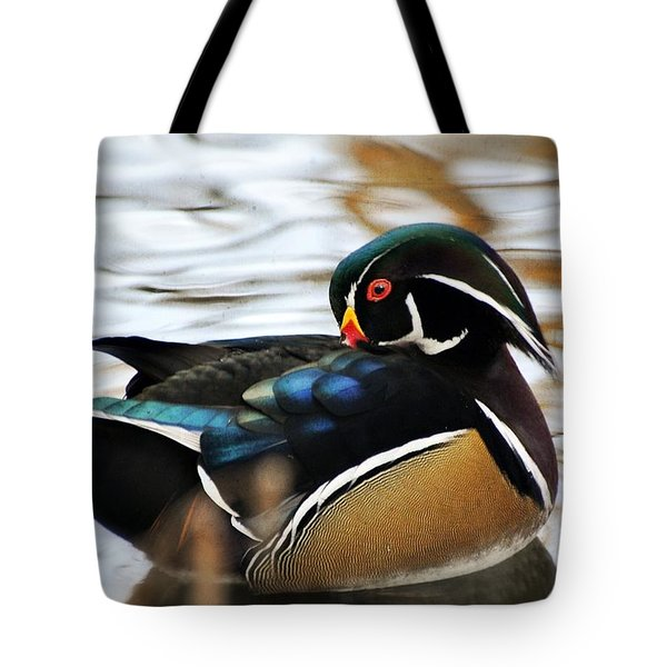 Vibrant Duclk Tote Bag by Marty Koch