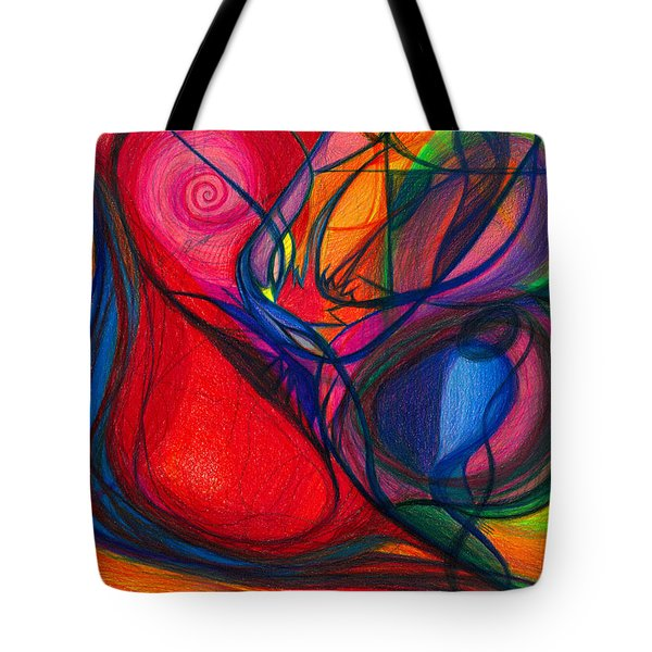 Vibrational Heart Healing - Sounds of Radiant Joy ' Purity of Heart ' Soul ' Mind and Body Aligned Tote Bag by Daina White