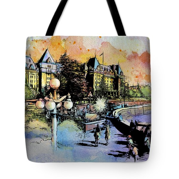Victoria Art Tote Bag by Catf