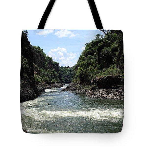 Victoria Falls Bridge - Zambia Tote Bag by Aidan Moran