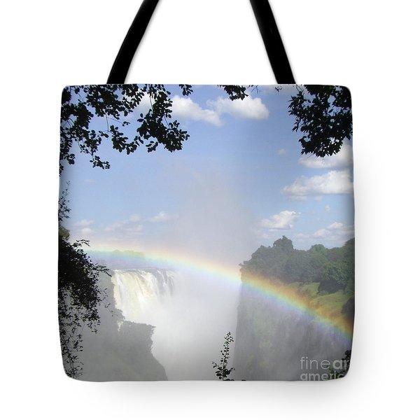 Victoria Falls Rainbow Tote Bag by Barbie Corbett-Newmin