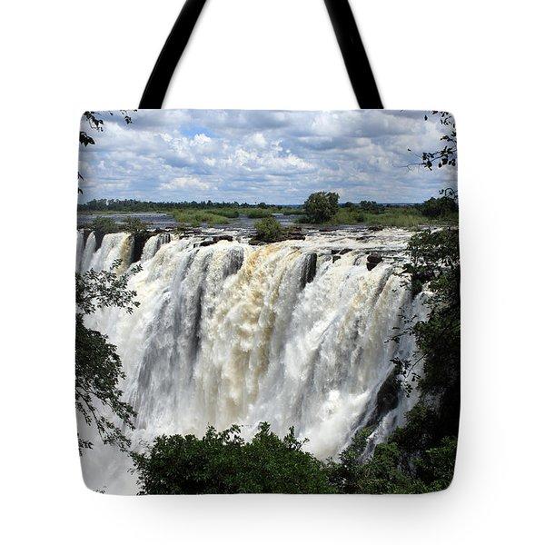 Victoria Falls View  Tote Bag by Aidan Moran