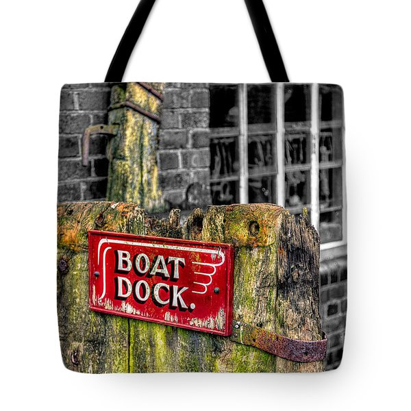 Victorian Boat Dock Sign Tote Bag by Adrian Evans