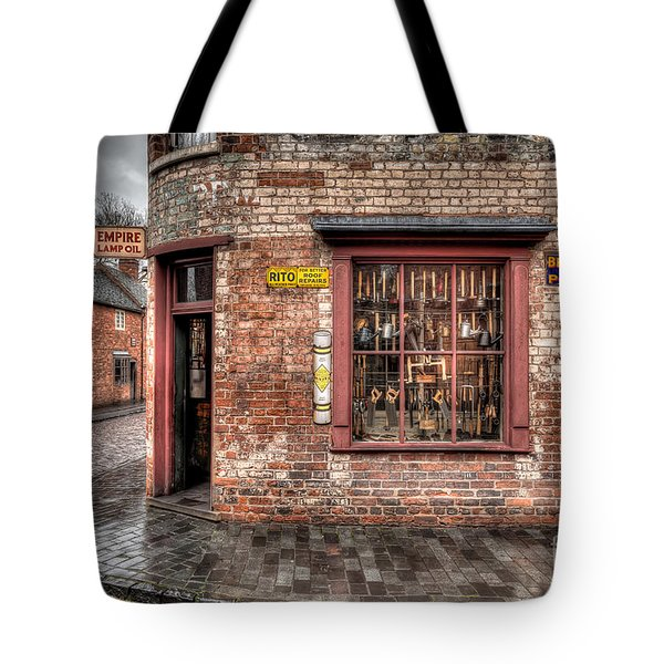 Victorian Corner Shop Tote Bag by Adrian Evans