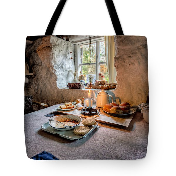 Victorian Cottage Breakfast Tote Bag by Adrian Evans