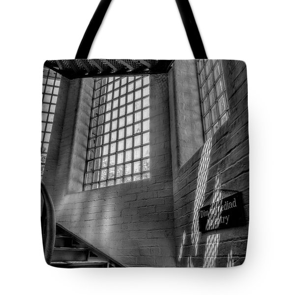 Victorian Jail Staircase V2 Tote Bag by Adrian Evans