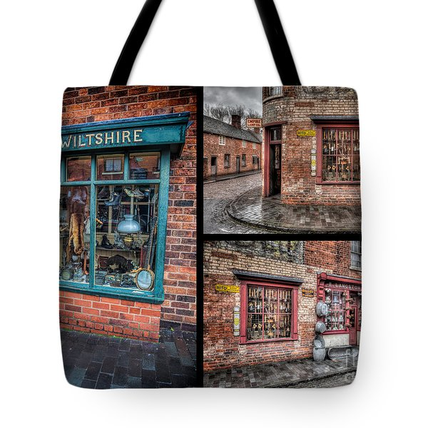 Victorian Shops Tote Bag by Adrian Evans