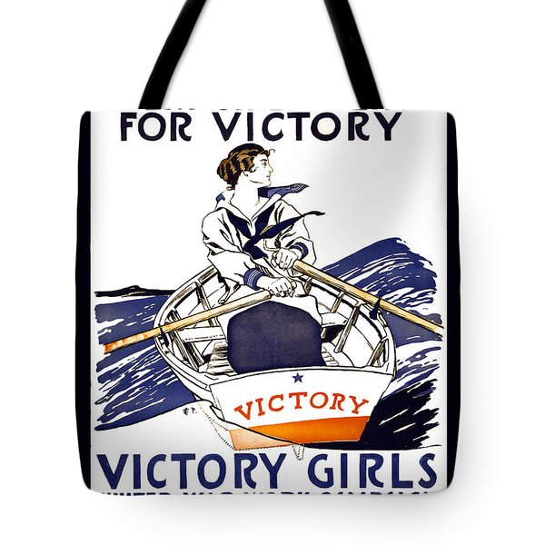VICTORY GIRLS of W W 1     1918 Tote Bag by Daniel Hagerman
