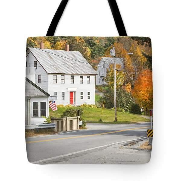 Vienna Maine in Fall Tote Bag by Keith Webber Jr