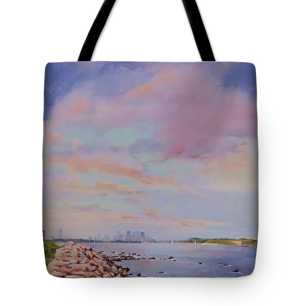 View from Hull Tote Bag by Laura Lee Zanghetti