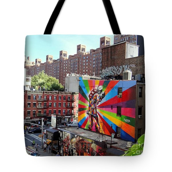 View From The Highline Tote Bag by Ed Weidman
