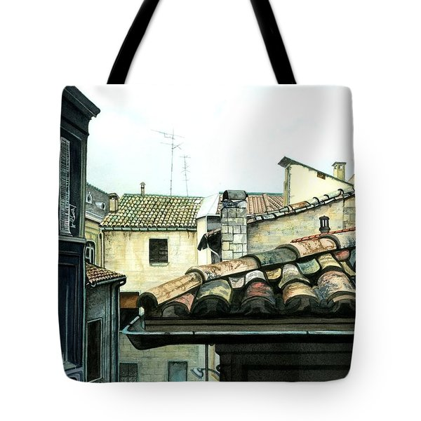 View from the Top Tote Bag by Barbara Jewell