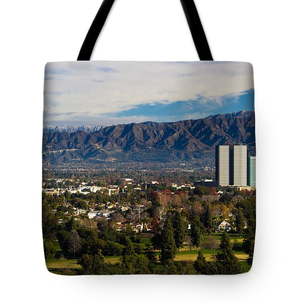 View From Universal Studios Hollywood Tote Bag by Heidi Smith