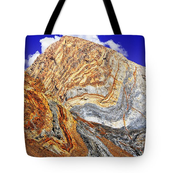 View Of Cliffs From Convict Lake Tote Bag by  Bob and Nadine Johnston