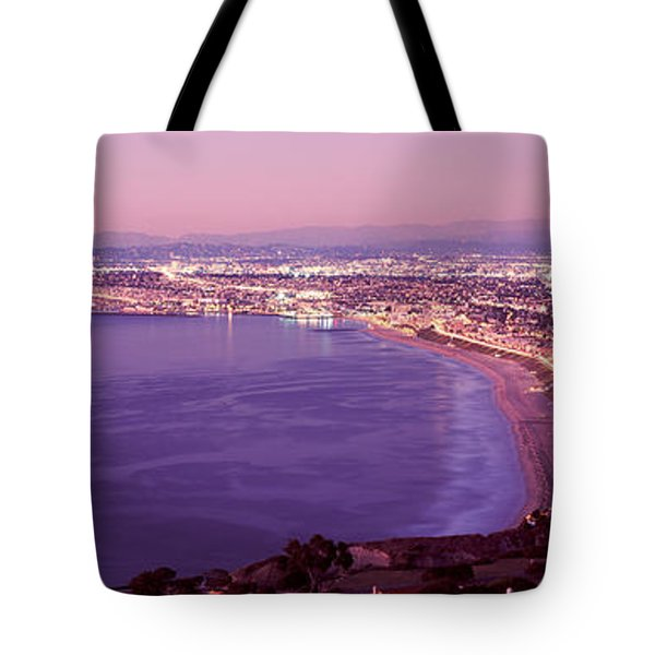 View Of Los Angeles Downtown Tote Bag by Panoramic Images