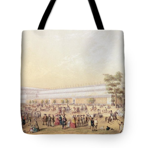 View Of The Crystal Palace Tote Bag by George Baxter