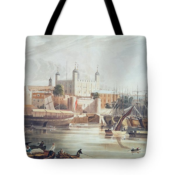 View Of The Tower Of London Tote Bag by John Gendall