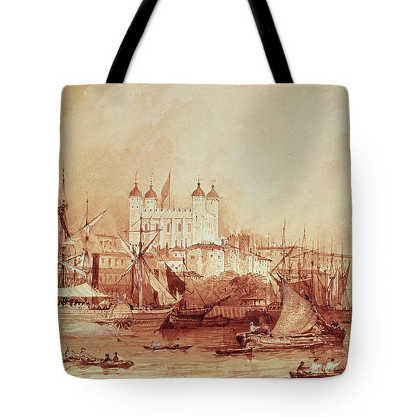 View Of The Tower Of London Tote Bag by William Parrott