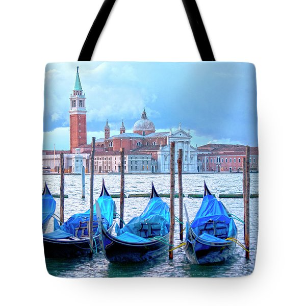 View To San Giorgio Maggiore Tote Bag by Heiko Koehrer-Wagner