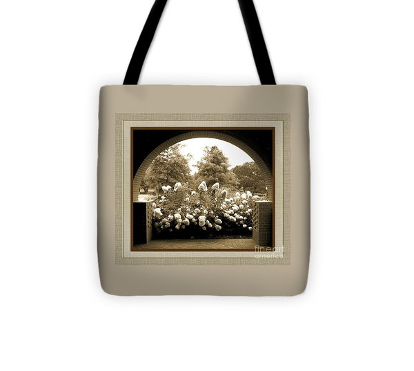 View To The Garden Tote Bag by Darla Wood