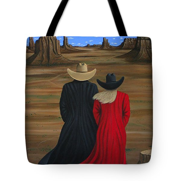 View West Tote Bag by Lance Headlee