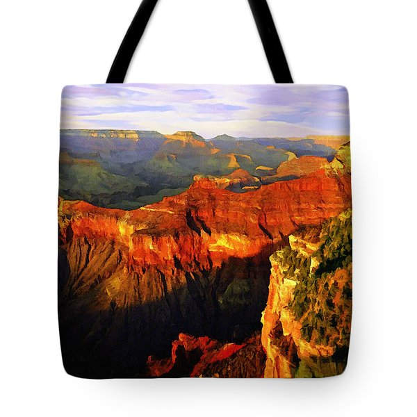 View - Yavapai Point Tote Bag by Bob and Nadine Johnston