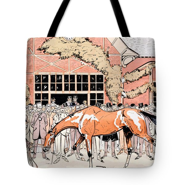 Viewing The Racehorse In The Paddock Tote Bag by Thelem