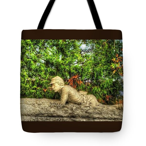 Vigilance - Gettysburg National Military Park - Late Afternoon Autumn Tote Bag by Michael Mazaika