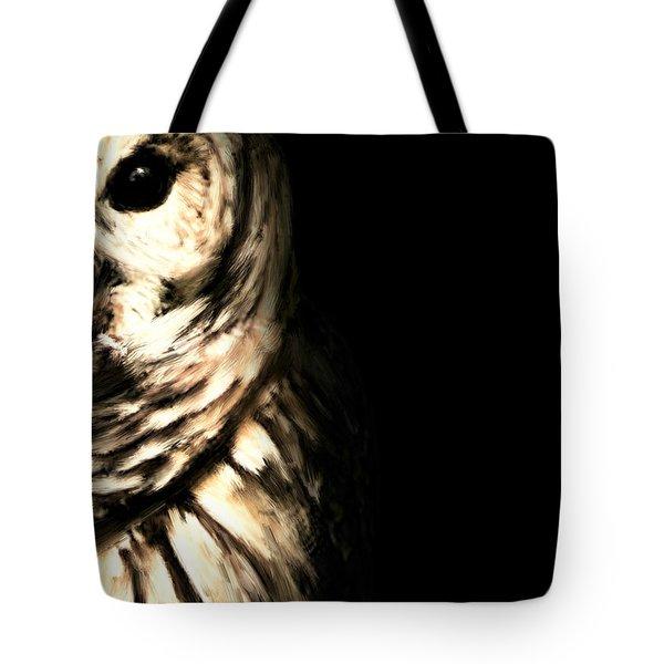Vigilant In Darkness Tote Bag by Lourry Legarde
