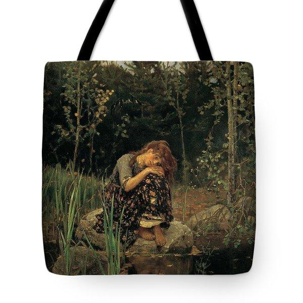 Viktor M Vasnetsov  Alenushka Tote Bag by MotionAge Designs