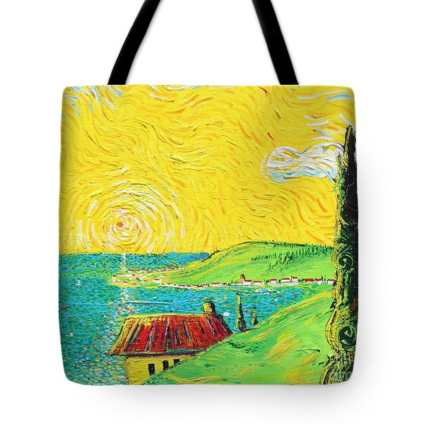 Village By The Sea Tote Bag by Stefan Duncan