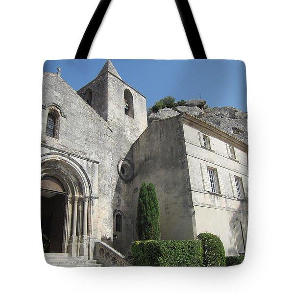 Village Church Tote Bag by Pema Hou